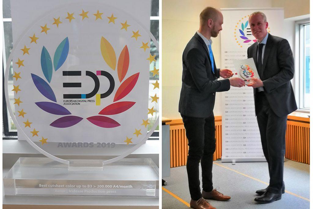 Iridesse Barcelona Cribsa premio EDS 1024x683 Iridesse gana otro premio estratégico de la Asociación EDP (European Digital Press).