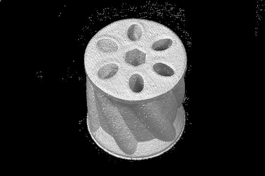 Round Cylindar Holes top view 540x360 1 Xerox® ElemX la impresión 3D de metal líquido